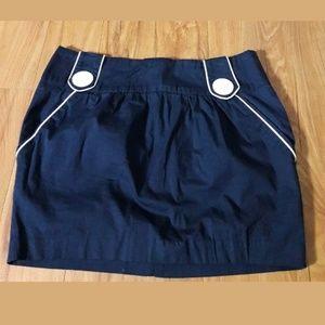 🦋 Forever Forever 21 Blue White Mini Skirt Sz XS